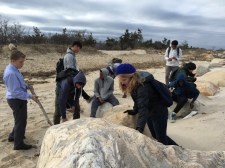 Applied Science students visit Caumsett State Park to study the formation of Long Island